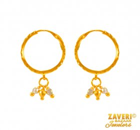 22 Kt Gold Hoops Earrings ( 22K Gold Hoops )