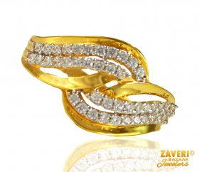 22 Kt Gold Fancy Signity Ring ( Stone Rings )