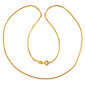 22 Kt Gold 16 Inches Box Chain ( Plain Gold Chains )