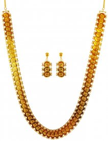 22 Karat Gold Ginni Necklace Set