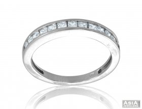 18K White Gold Fancy Studded Band  ( Gold Wedding Bands )