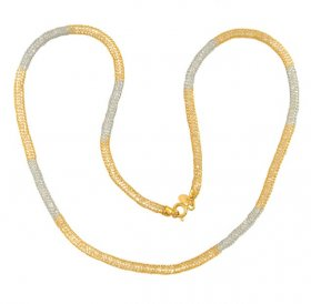 Gold 2 tone net chain ( Gold Fancy Chains )