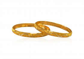22K Gold Rhodium Baby Bangle ( Baby Bangles )