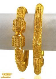 22Karat Gold Pipe Kada (2 PCs)