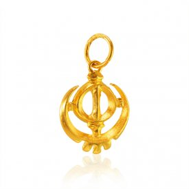 22K Gold Khanda Pendant ( Ganesh, Laxmi, Krishna and more )