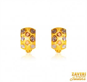 22 Karat Gold Clipon  ( Gold Clipon Earrings )