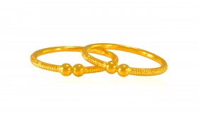22 Karat Gold Kids Kada (Pair)