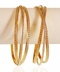 22kt Gold Rhodium Bangle (1 PC)