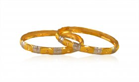 22 Karat Gold Baby Bangle (2pc) ( Baby Bangles )