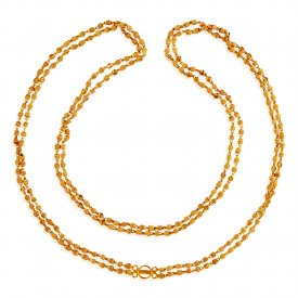 22 Karat Gold Tulsi Mala ( Long Chains (Ladies) )