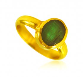 22 Karat Gold Emerald Ring