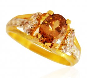 22kt Gold Colored Stone Ring
