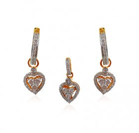 18KT Diamond Pendant Set ( Diamond Pendant Sets )