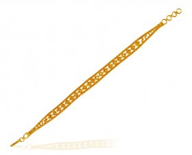 22K Gold Ladies Filigree Bracelet