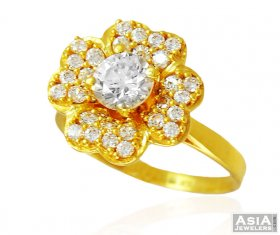 Beautiful Floral 22k Gold Ring