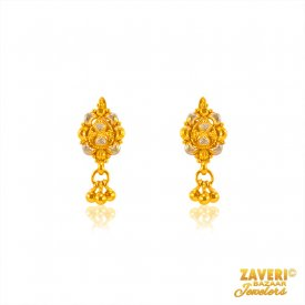 Fancy Indian 22 Kt Earrings  ( 22K Gold Earrings )
