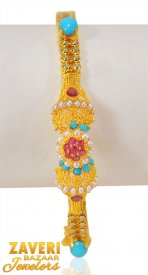 22kt Gold Antique Kada (1pc) ( 22K Antique Bangles )
