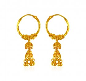 22Kt Gold Hoop Earrings ( 22K Gold Hoops )