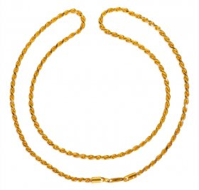 22kt Gold Fancy Rope Chain (20 Inc) ( Gold Fancy Chains )