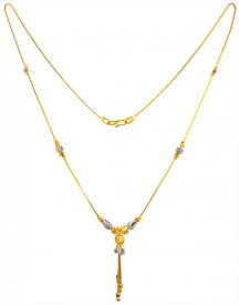 22KT Gold Two Tone Fancy Chain ( Gold Fancy Chains )