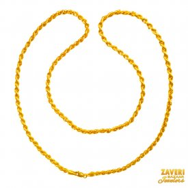 22kt 20 in hollow rope chain ( Plain Gold Chains )