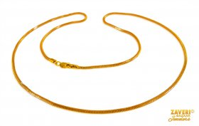 22 Kt Gold Two Tone Chain (20 Inch) ( Gold Fancy Chains )