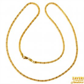 22 K Yellow Gold Chain  ( Plain Gold Chains )
