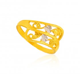 22 Karat Gold Two Tone Ring