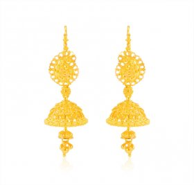 22 Kt Gold Jhumka Earrings
