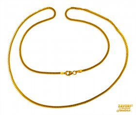 Box Chain 22 Karat Gold  (20 In)