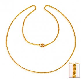 22Kt Gold Box Chain (17In) ( Plain Gold Chains )