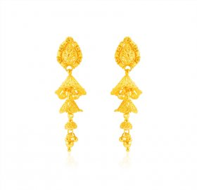 22k Gold Indian Earrings For Ladies