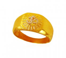 Religious Om Ring 22k ( Gold Religious Rings )