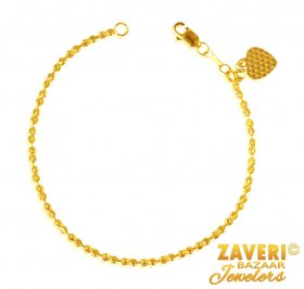 22K Fancy Gold Balls Bracelet  ( 22K Ladies Bracelets )