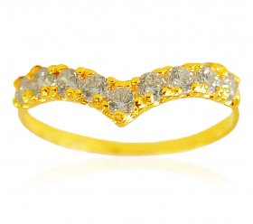 22k Gold Cubic Zircon Ring ( Stone Rings )