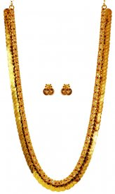 22 Karat Gold Kasu Maalai ( 22K Necklace Sets (Long) )