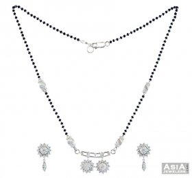 White Gold Mangalsutra Set(18k)