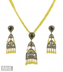 Polki Diamonds Pendant Set ( Nizam Collection (Victorian) )