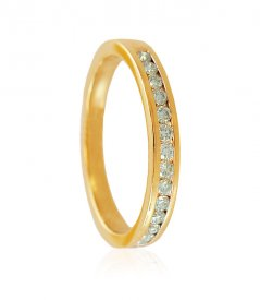 18K Gold Ladies Diamond Band ( Diamond Rings (Ladies) )