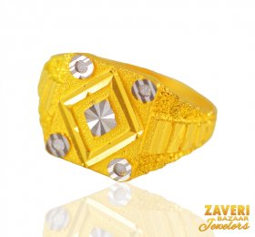 22k  Mens Twotone Ring  ( Men`s Rings )