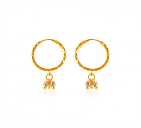22Kt Gold Hoops Earrings ( 22K Gold Hoops )