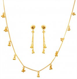 22kt Gold Light Necklace Set ( 22K Light Necklace Sets )