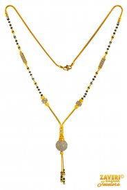 22 Kt two tone Gold Mangalsutra