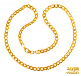 22 Kt Gold Mens Chain (18 Inch)