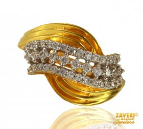 22k Gold Ring with CZ
