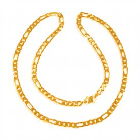 22 Karat Gold Figaro Chain  ( Mens Gold Chain )
