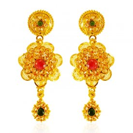 22 Karat Gold Polki Earrings