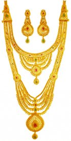 22Karat Gold Bridal Necklace Set