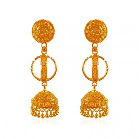22kt Gold Jhumkhi Earrings