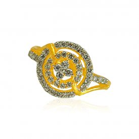 22K Gold Ladies Signity Ring ( Stone Rings )